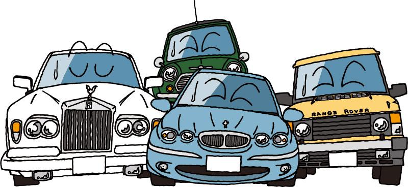 重課税に嘆く英国車たち