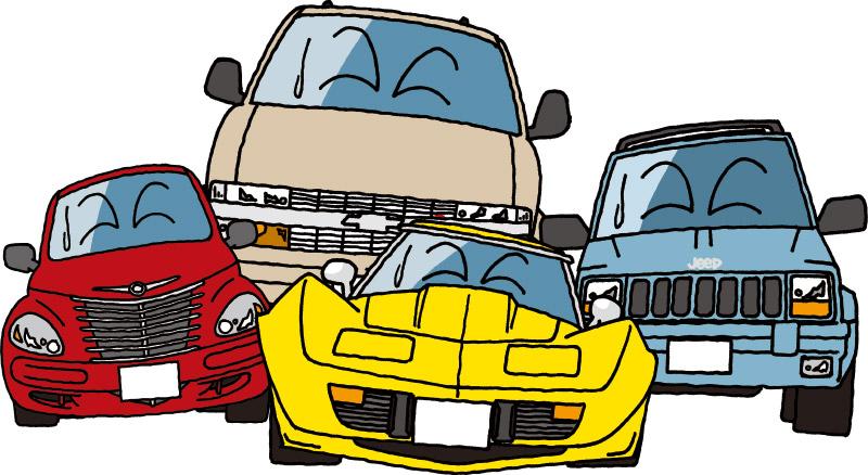 重課税に嘆くアメ車たち